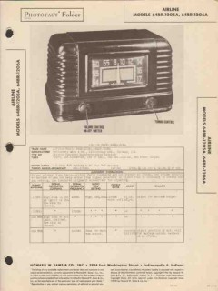 airline model 64br-1205a 64br-1206a am radio sams photofact manual