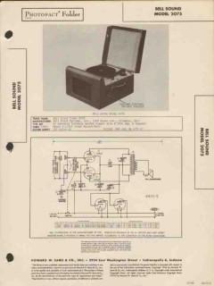 bell sound model 2075 phonograph record player sams photofact manual