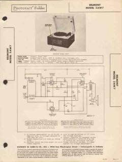 belmont model 3aw7 phonograph record player sams photofact manual