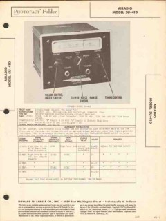 airadio model su-41d aircraft radio receiver sams photofact manual