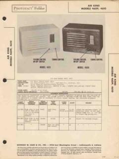 air king model 4609 4610 am radio receiver sams photofact manual