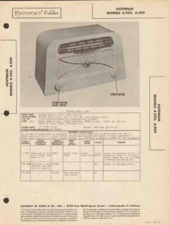 hoffman model a-202 a-309 am radio receiver sams photofact manual
