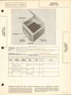 hoffman model a401 am radio receiver phonograph sams photofact manual