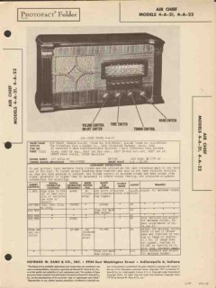 air chief model 4-a-21 -22 am sw radio receiver sams photofact manual