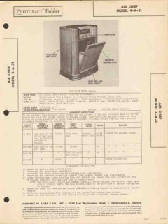 air chief model 4-a-31 am radio receiver phono sams photofact manual