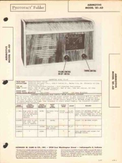 aermotive model 181-ad 8 tube am radio receiver sams photofact manual