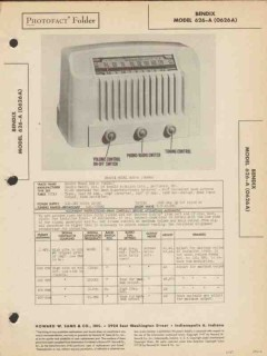 bendix model 626-a 6 tube am sw radio receiver sams photofact manual