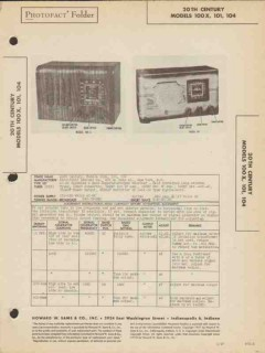 20th century model 100x 10x am sw radio receiver sams photofact manual