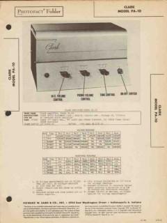 clark model pa-10 5 tube audio amplifier sams photofact manual