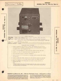 airadio model tra-1x aircraft radio transmitter sams photofact manual