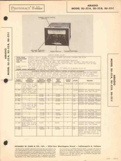 airadio models su-52x aircraft radio receiver sams photofact manual
