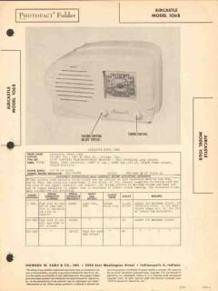 aircastle model 106b 5 tube am radio receiver sams photofact manual