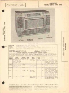 aircastle model 5010 5011 5012 am radio receiver sams photofact manual