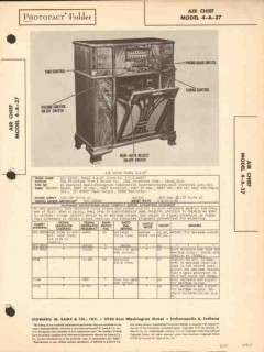 air chief model 4-a-37 am sw radio phonograph sams photofact manual