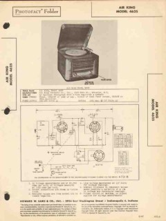 air king model 4625 phonograph record player sams photofact manual