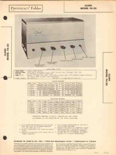 clark model pa-20 6 tube audio amplifier sams photofact manual