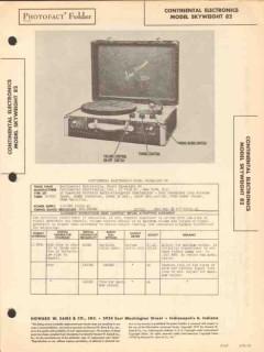 continental electronics model skyweight 82 radio sams photofact manual