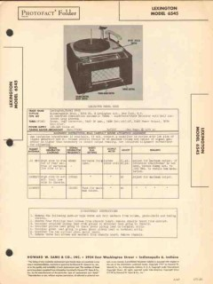 lexington model 6545 am radio receiver phono sams photofact manual