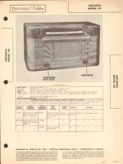 aircastle model px 4-tube am radio receiver sams photofact manual