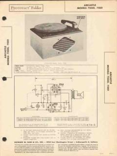 aircastle models 7000 7001 phono record player sams photofact manual