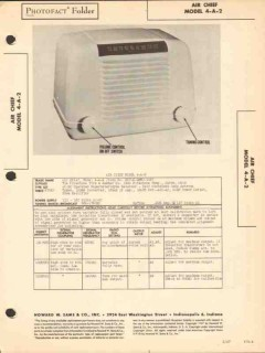 air chief model 4-a-2 5 tube am radio receiver sams photofact manual