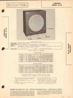 cardwell model ce-26 audio amplifier speaker sams photofact manual