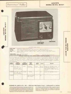 lafayette model mc10b mc10y am radio receiver sams photofact manual