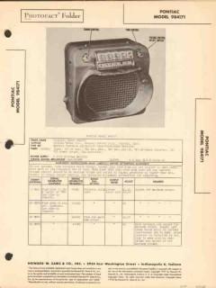 pontiac models 984171 7 tube am car radio sams photofact manual