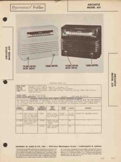 aircastle model 651 5 tube am radio receiver sams photofact manual
