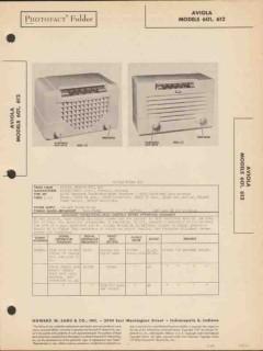 aviola model 601 612 6 tube am radio receiver sams photofact manual