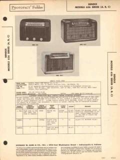 bendix models 636a 636b 636c am radio receiver sams photofact manual