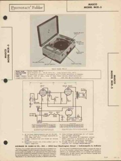 masco model mcr-5 automatic phono record player sams photofact manual