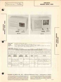 aircastle models 5000 5001 am radio receiver sams photofact manual