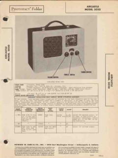 aircastle model 5020 am radio receiver sams photofact manual