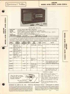 airline models 64br-1208a 64br-2200a am sw radio sams photofact manual