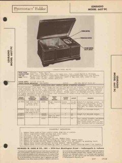 learadio model 6617pc am radio receiver phono sams photofact manual
