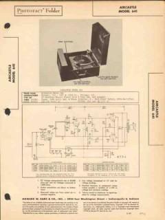 aircastle model 641 phonograph record player sams photofact manual