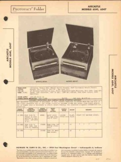aircastle model 654x am radio receiver phono sams photofact manual