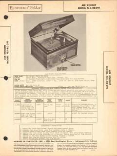 air knight model n5-rd291 am radio phonograph sams photofact manual