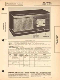 air knight model ca-500 am radio receiver sams photofact manual