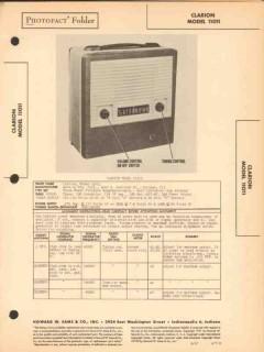 clarion model 11011 portable am radio receiver sams photofact manual