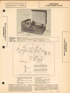 commander model 428 phonograph record changer sams photofact manual