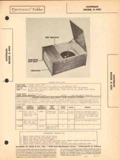 hoffman model b-400 am radio receiver phonograph sams photofact manual