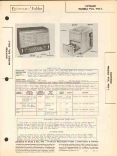 howard model 906 906c am radio receiver phono sams photofact manual