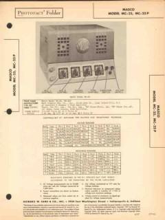 masco model mc-25 mc-25p 3ch audio amplifier sams photofact manual