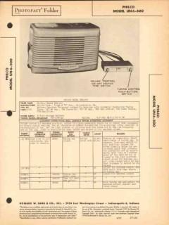 philco model un6-500 am car radio receiver sams photofact manual