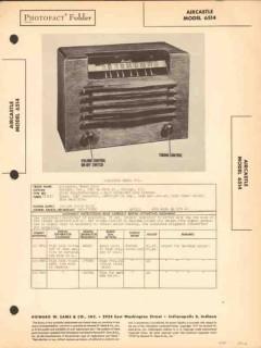 aircastle model 6514 5 tube am radio receiver sams photofact manual