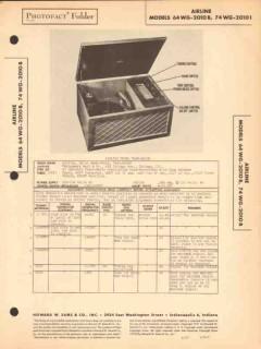 airline model 64wg-2010b 74wg-2010b radio phono sams photofact manual