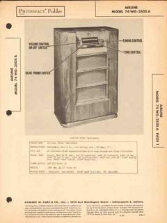 airline model 74wg-2505a am fm radio receiver sams photofact manual