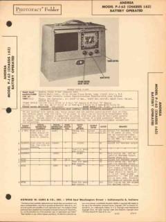 andrea model p-i63 3-band am sw radio receiver sams photofact manual